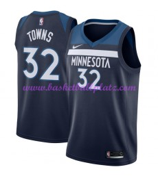 Minnesota Timberwolves Trikot Herren 2018-19 Karl Anthony Towns 32# Icon Edition Basketball Trikots ..